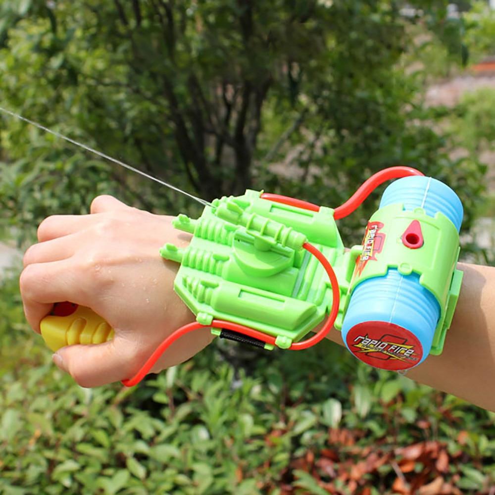 Детский семейный водный пистолет, игры, игрушки, ручной водный разбрызгиватель на запястье, Горячая Летняя Пляжная водная игрушка, Детская ...