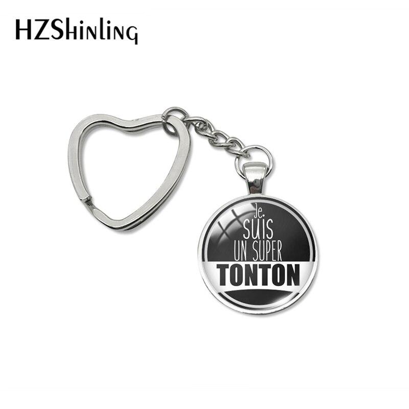 2020 New Fashion Super Tonton je suis un Super Tonton cadeau oncle Heart Keyring Super Tonton Foreve