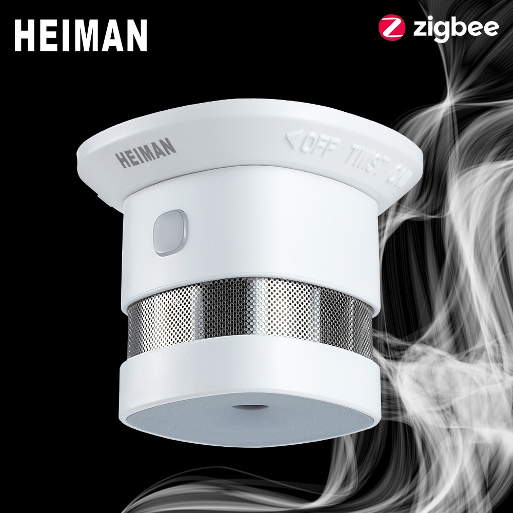 free shipping de hs high sensitivity broadband microwave coaxial rf detector 0 01 3ghz 9ghz HEIMAN Zigbee 3.0 Fire alarm Smoke detector Smart Home system 2.4GHz High sensitivity Safety prevention Sensor Free Shipping