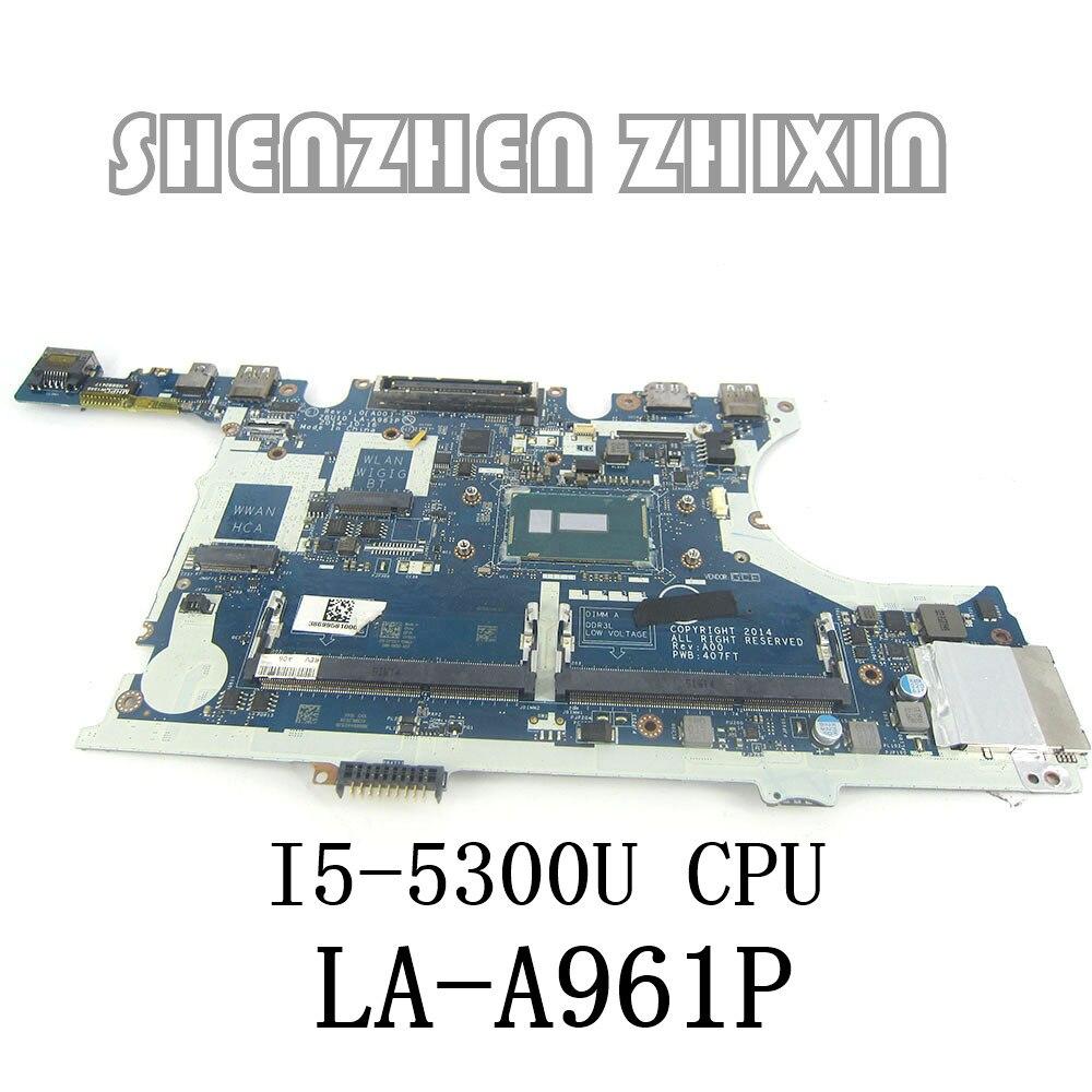 YOURUI لديل خط العرض 7450 E7450 اللوحة المحمول وحدة المعالجة المركزية I5-5300U LA-A961P CN-0R1VJD 0R1VJD R1VJD اختبار 100% العمل