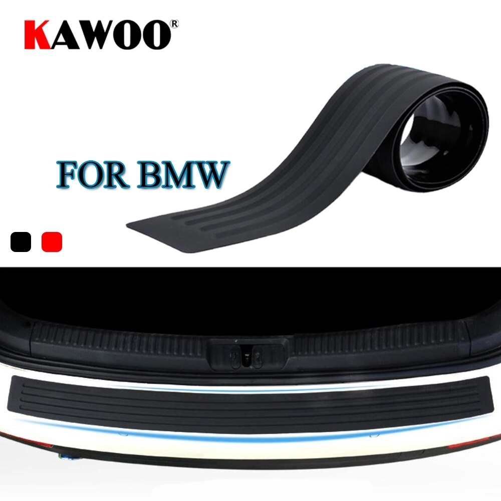 AliExpress - KAWOO For BMW X1 X3 X5 X6 F15 F16 F20 F25 E83 E70 E84 E53 Rubber Rear Guard Bumper Protect Trim Cover Sill Mat Pad Car Styling