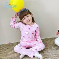 kids clothes girls 3 to 4 years sleepwear baby cotton set children cartoon pajamas toddler pyjamas nightwear spring autumn pjs