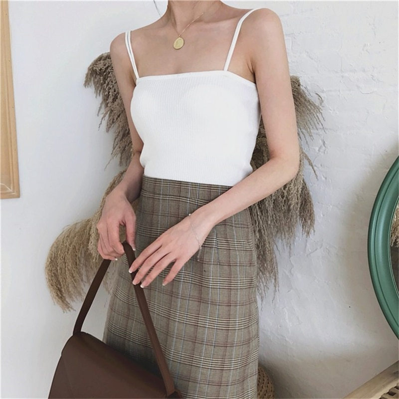 H8458c808284742c7b6054e5d5ffd3322b - Summer Korean Sleeveless Basic Solid Camisole