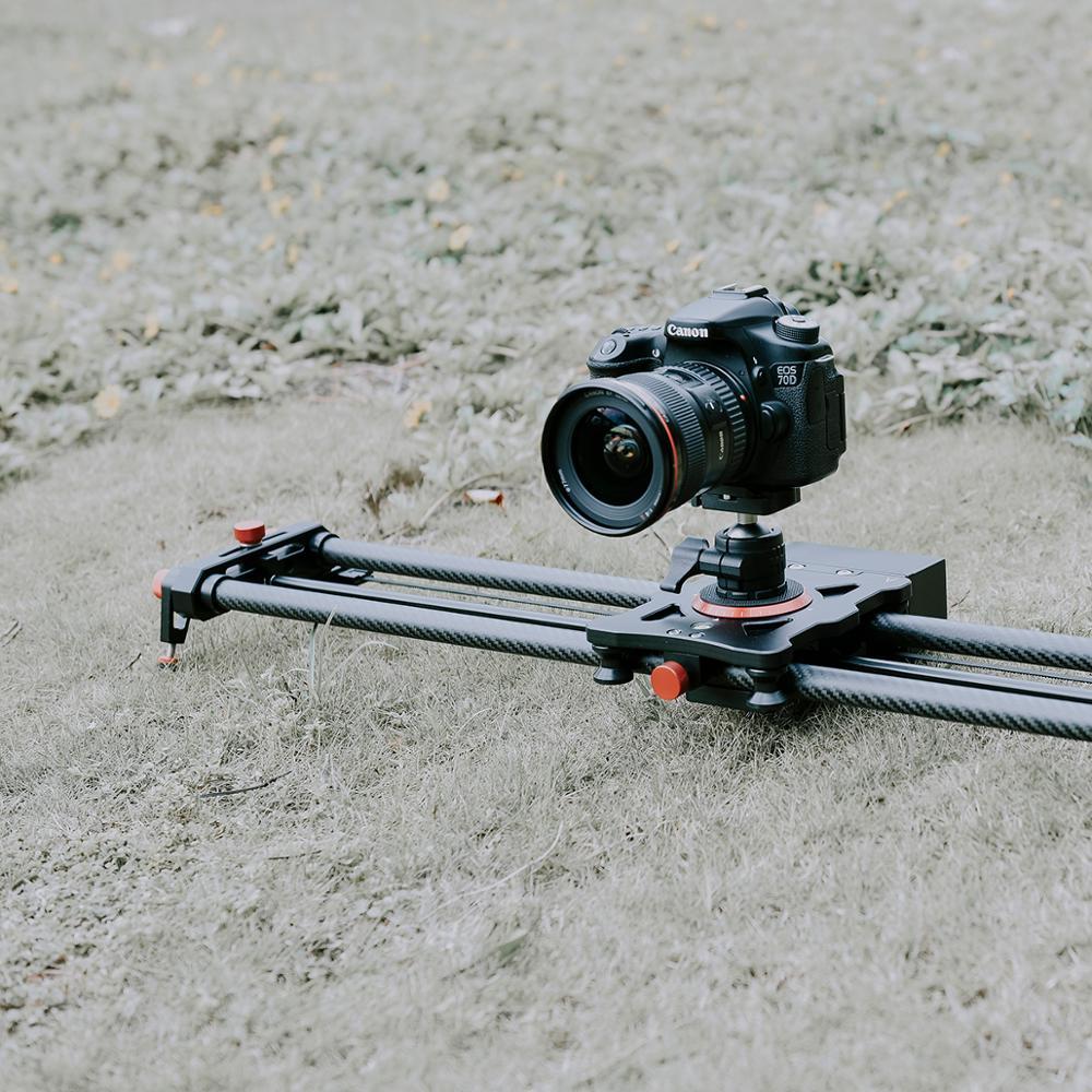المهنية حامل كاميرا متحرك موتوزيد فيديو ألياف الكربون المسار السكك الحديدية مع كتم موتور الوقت الفاصل اللاسلكي التحكم عن بعد