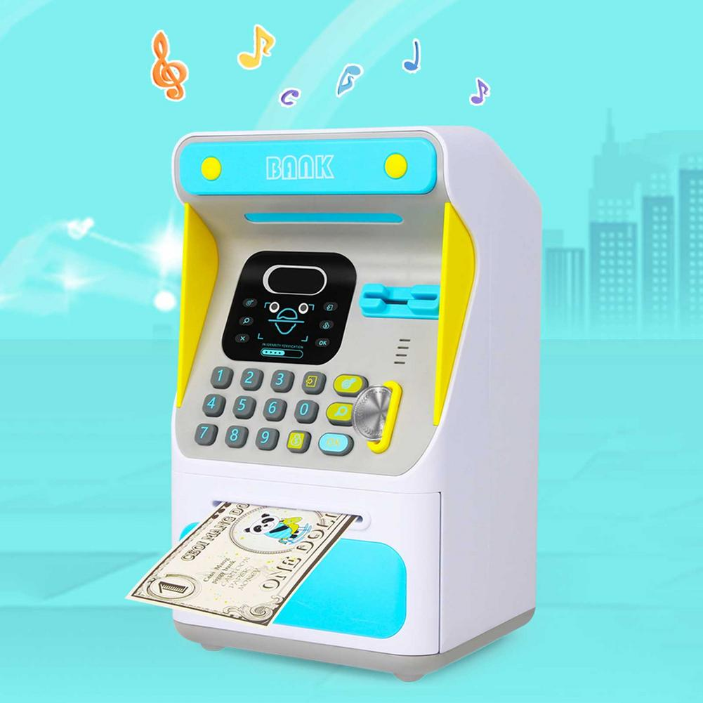 Furniture Toys ATM Piggy Bank Cash Coin Money Savings Simulation ATM Bank Machine Pretend Play Toy Children Education Toy