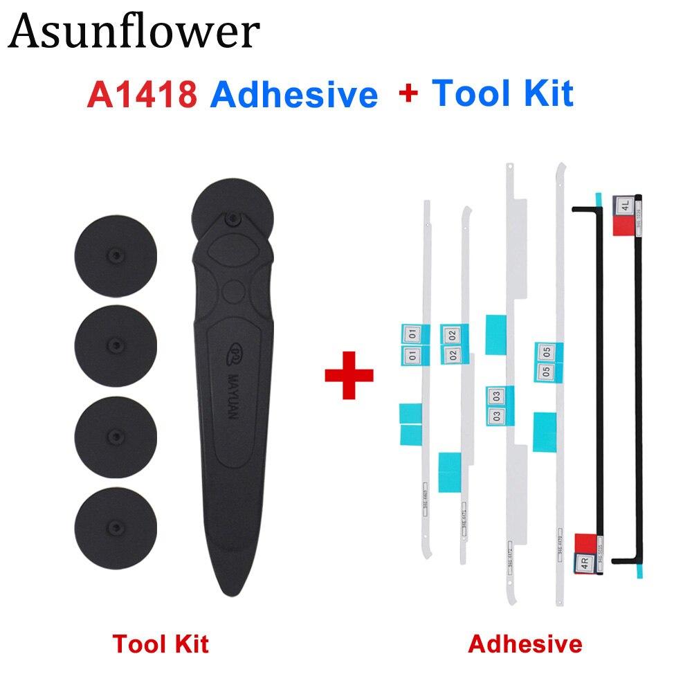Asunflower LCD cinta de tiras adhesivas Kit de herramientas de apertura rueda de apertura para iMac A1418 A1419 pantalla pegatinas adhesivo pegamento