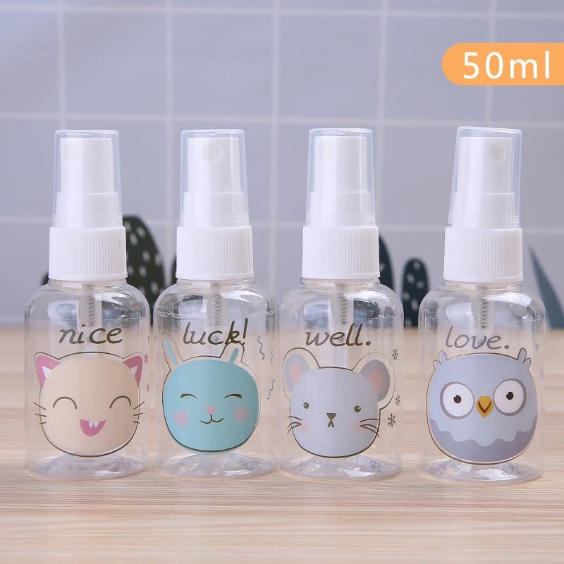 Rellenable minibotella transparente botellas de Spray vacío contenedor viaje champú botella cosmética rellenable 30/40/50/75/100ml caliente