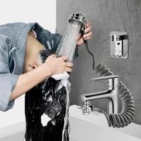 Porte-robinet de douche externe  artefact lavage des cheveux danimaux de compagnie  salle de bains  bassin de cuisine  filtre de robinet  tuyau Flexible  pistolet de pulverisation de Bidet