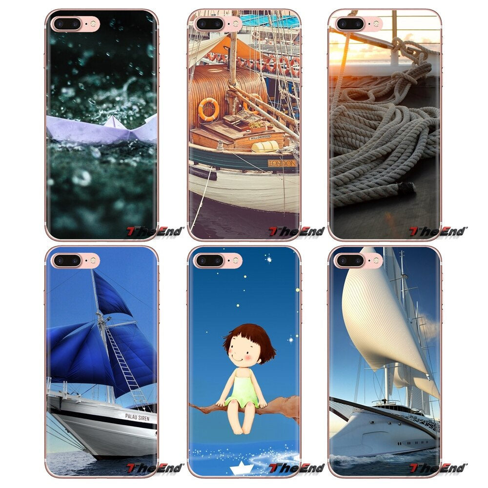 Fundas transparentes suaves para iPod Touch Apple iPhone 4 4S 5 5S SE 5C 6 6 S 7 8 X XR XS Plus MAX barco 1