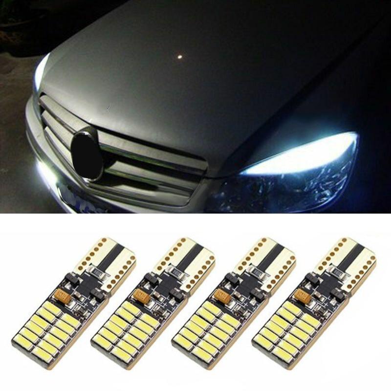 4 Uds. Blanco T10 accesorios sin errores 30*10mm LED Bombilla profesional para Mercedes W204 DC 12-24V 24x4014 gran oferta