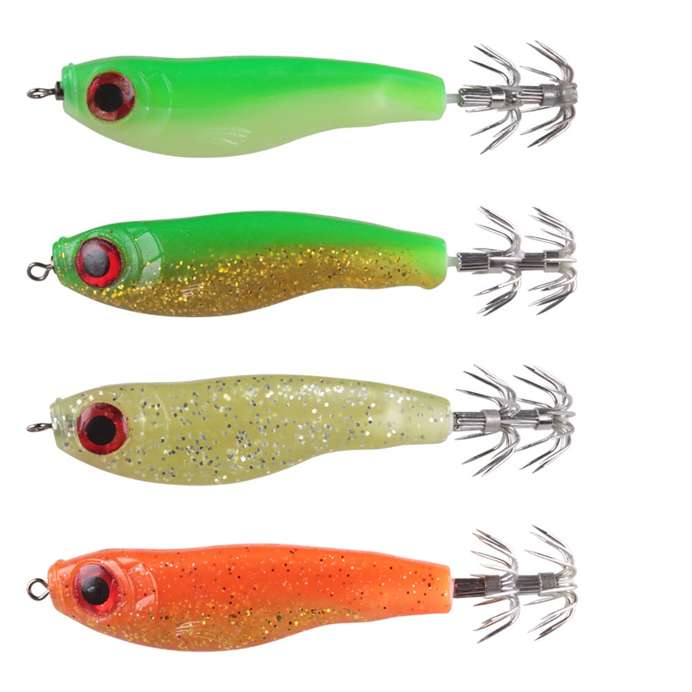4Pcs/Lot Fishing Soft Baits Squid Hook Swimbait 90mm 9g LuresDe Peche Dure Souple Wlure Carp Worm Bait Isca Pesca Wobler Na Ryby enlarge