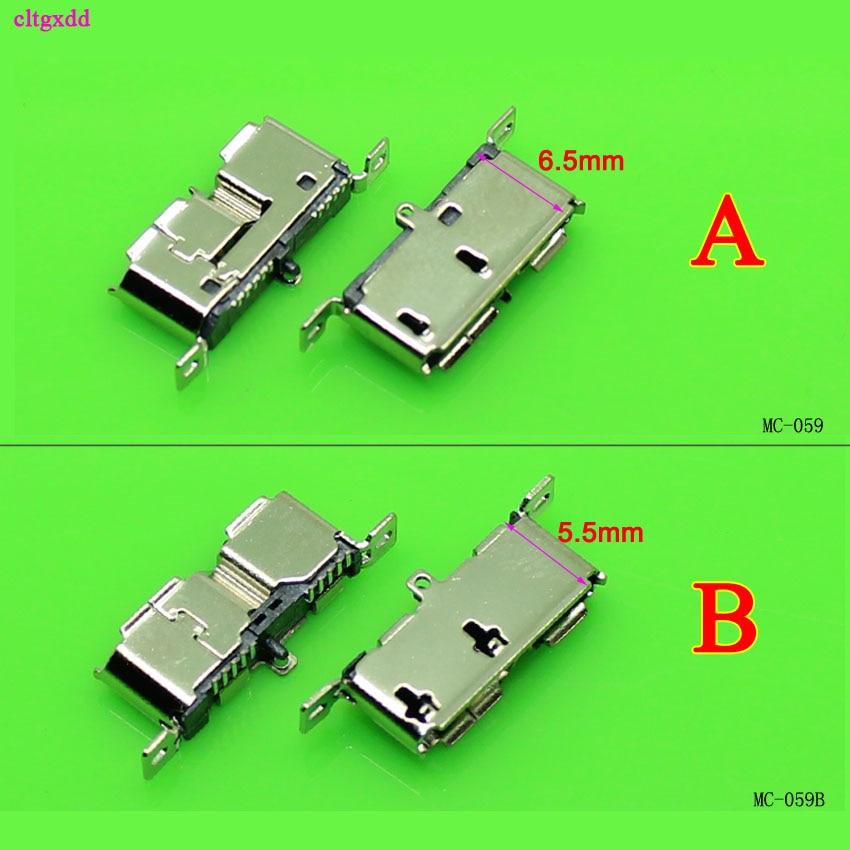 10 piezas, Micro USB tipo B, USB 3,0 de tipo DIP hembra DIP2 10pin conector USB para móviles de unidades de disco duro datos 3,0 Vertical USB Jack