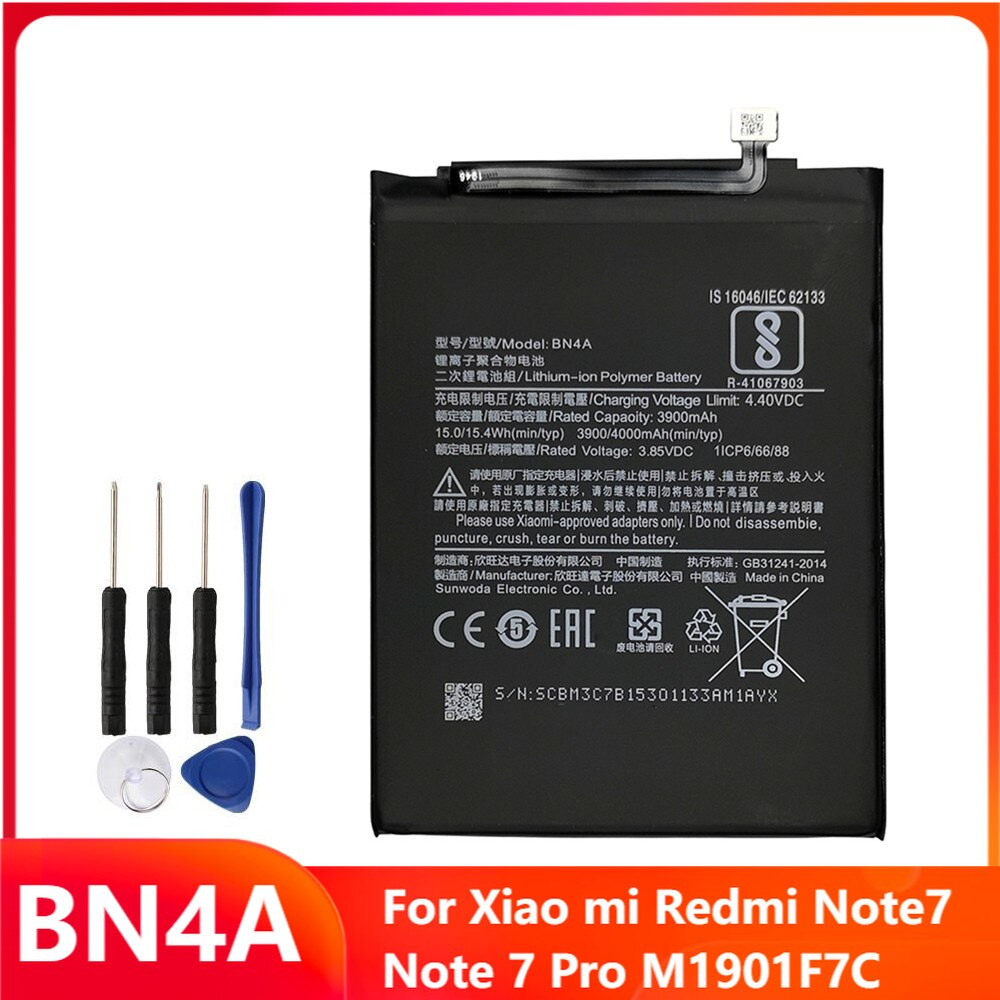Replacement Phone Battery BN4A For Xiao mi Redmi Note7 Note 7 Pro M1901F7C 4000mAh With Free Tools недорого