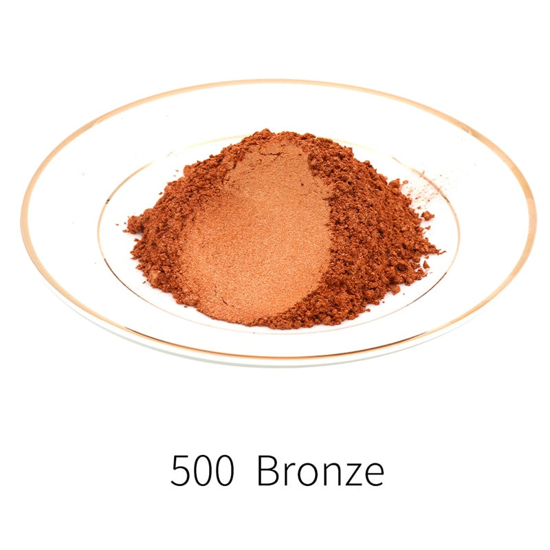 Pigmento de perla Mineral Mica en polvo tipo 500 pintura en polvo de oro para DIY colorante para teñido coches de jabón arte