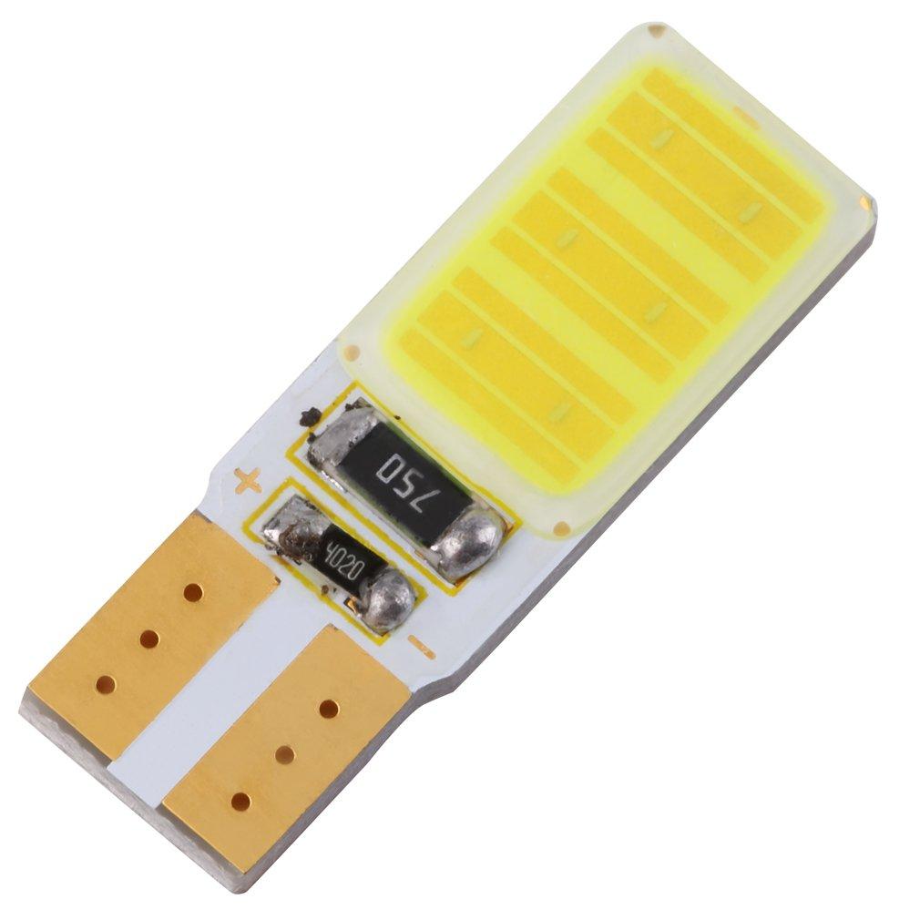 Bombilla COB de 12V con ancho de hoja, 6W, luz LED superbrillante para automóvil, luz de indicación de ancho Universal, piezas de coche duraderas para lámpara