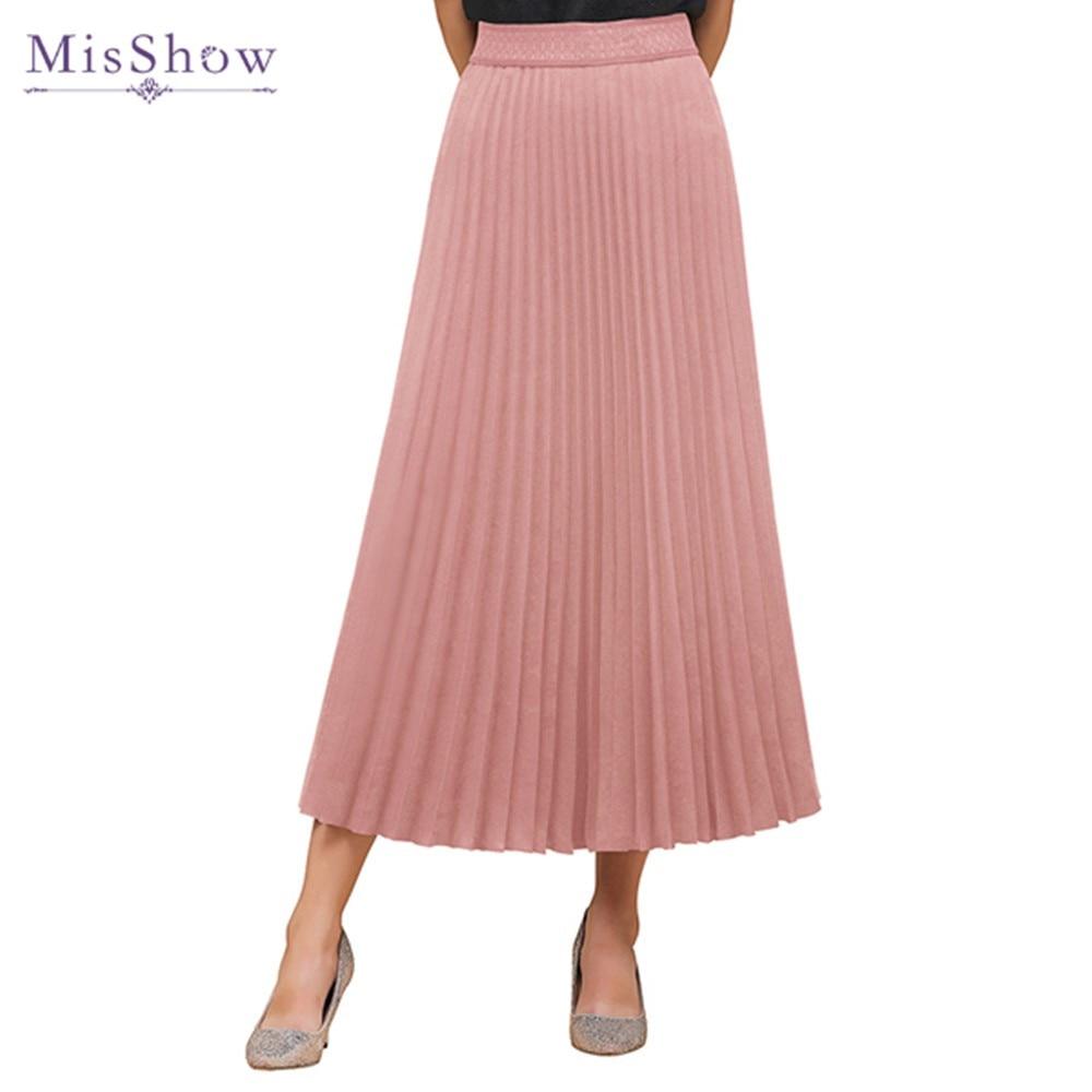 Женская Юбка mujer primavera otoño falda de cintura alta, Rosa negro Borgoña Casual Oficina falda 2020 sólido Jupe Femme