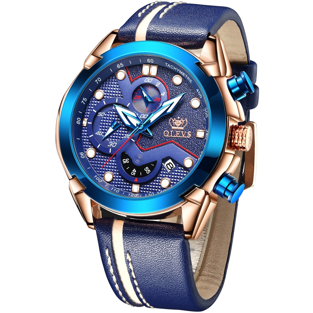 2021 New Fashion Mens Watches with Stainless Steel Top Brand Luxury Sports Chronograph Quartz Watch Men Relogio Masculino