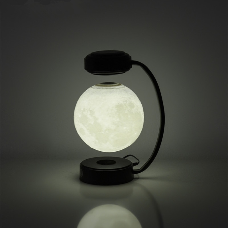 Levitating Moon Lamp Unique Design Bend pipe Maglev 3D Printing Floating Lunar Lamp Home Office Room Decorations Creative Gifts