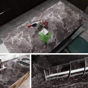 Colorfuls Self Adhesive Marble Wallpaper Peel And Stick Waterproof Bathroom Kitchen Cabinets Desktop Stickers Home Decor Film