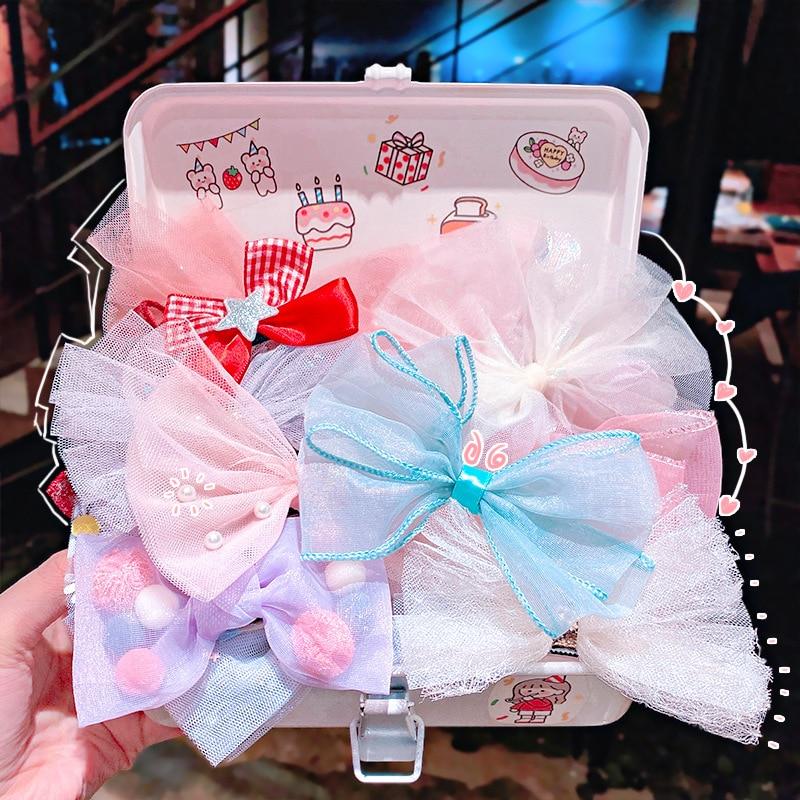 3PC Sweet Princess Cute Children Hairpin Flower Cartoon Hair Clips Kids Hair Accessories Girls Hair