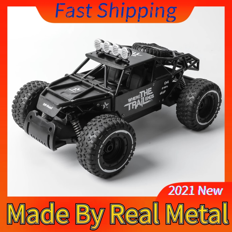 1 16 4wd rc cars alloy speed 2 4g radio control rc cars toys buggy 2017 high speed trucks off road trucks toys for children gift RC Car 1:10 Real Metal Gift Updated 2.4G Radio Control Toys Buggy High Speed Monster Trucks Off-Road For Children Boys Racer