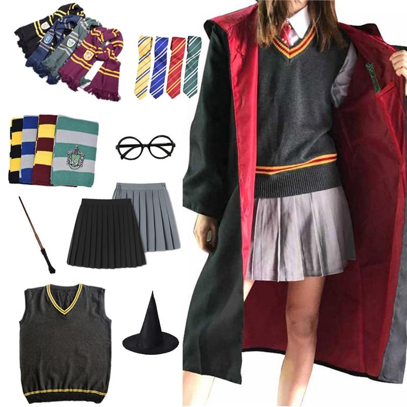 Magic Cloak Potter Cosplay Costume Robe Cape Hermione Granger Cosplay Potter Costume