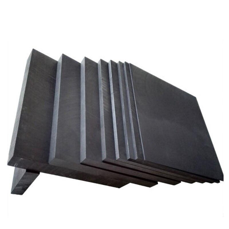 5 piezas 50*40*3mm de alto carbono puro hoja de grafito ánodo placa juego de hojas para Edm electrodo la electrólisis de placa