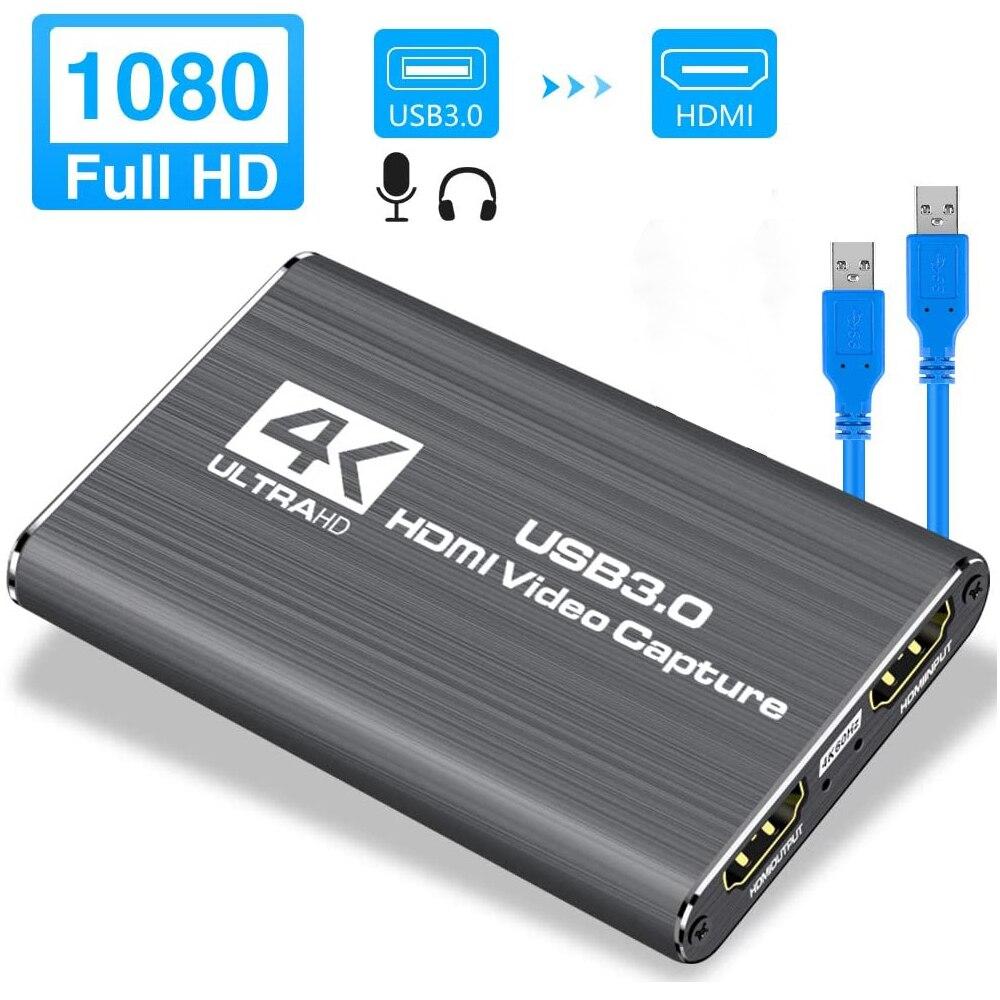 Navceker-tarjeta de captura de juegos USB 2,0, HDMI, 1080P, 4K, placa de...