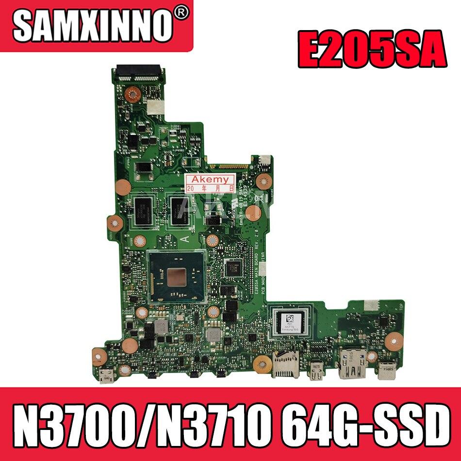 Akemy E205SA لوحة أم للكمبيوتر المحمول Asus Eeebook Flip E205S TP200S TP200SA 15bl-05u5 اللوحة الأم N3700/N3710 64G-SSD