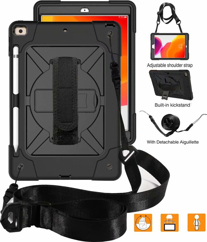 Generation iPad Hybrid Armor For Rugged 8th Pencil Holder Duty 2020 Heavy Shockproof Case