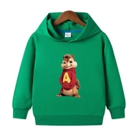 children sweatshirts spring clothes boys long sleeve hoodies girl clothing kids hooded alvin and the chipmunks tops baby costume