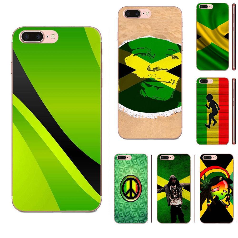Bien Jamaica bandera nacional para Samsung Galaxy Note 8 9 10 Pro S4 S5 S6 S7 S8 S9 S10 S11 S11E S20 Edge Plus Ultra TPU Coque