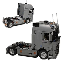 moc technical truck moc 37849 engineering container tractor unit building blocks vehicle car bricks educational diy toys gifts