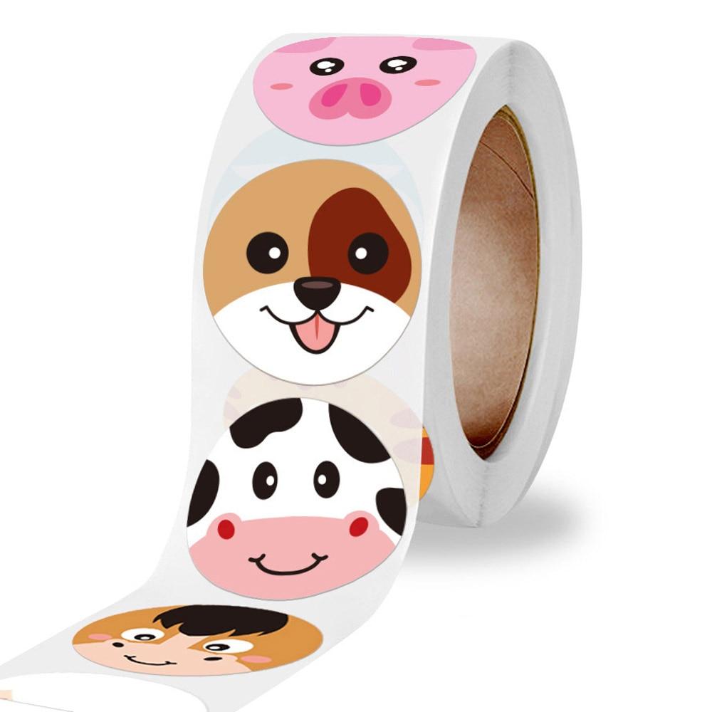 pegatina-de-animales-de-dibujos-animados-para-ninos-etiquetas-de-sellado-suministros-para-profesores-y-escuela-pegatinas-de-recompensa-50-500-uds