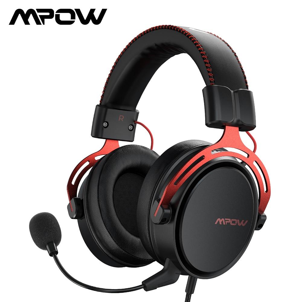 Mpow-سماعة رأس للألعاب Air SE ، وسماعات ألعاب سلكية ، وصوت محيطي ، وميكروفون لإلغاء الضوضاء ، والتحكم في الخط ، للكمبيوتر الشخصي