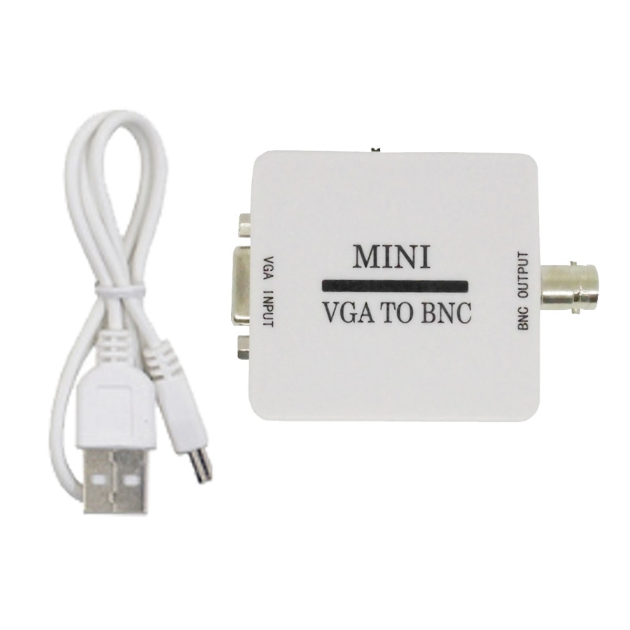 Convertidor de vídeo VGA a BNC caja de convertidor de vídeo compuesto Mini HD VGA a BNC adaptador Conversor caja de conmutación Digital para HDTV monitor