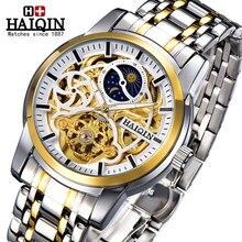 HAIQIN Luxury Watch Men watches 2020 luxury Brand watch men automatic Mechanical wristwatch mens Gold Tourbillon reloj hombre