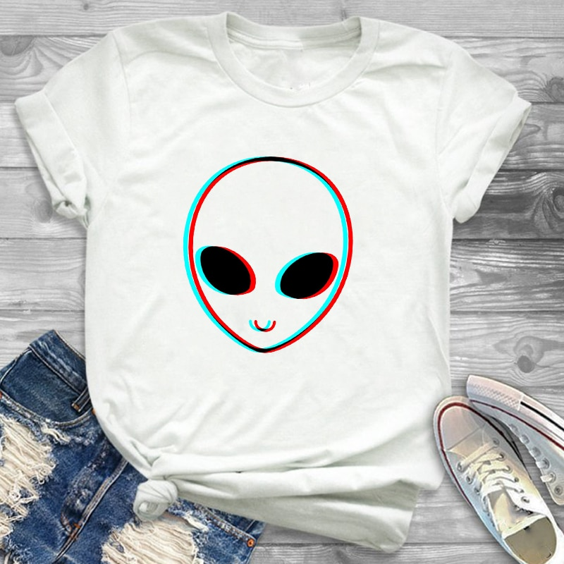 Women Fashion Love Peace Watercolor Casual Print Womens Female Graphic T Shirt T-Shirt Streetwear Tee Shirt Plus Size