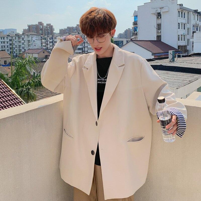 Blazer informal holgado para hombre, blazer coreano elegante de manga larga, de...