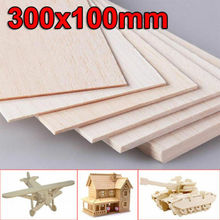 House Aircraft Thick Wooden Crafts Sheets 1mm~8mm DIY Material Balsa Toys Carving Latest Plate Universal For Kids Model Making