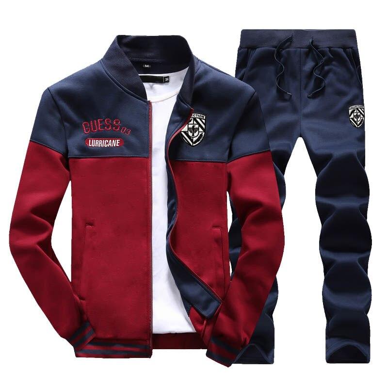 Осенняя одежда, мужская куртка для отдыха, Модный комплект одежды, хлопковая майка