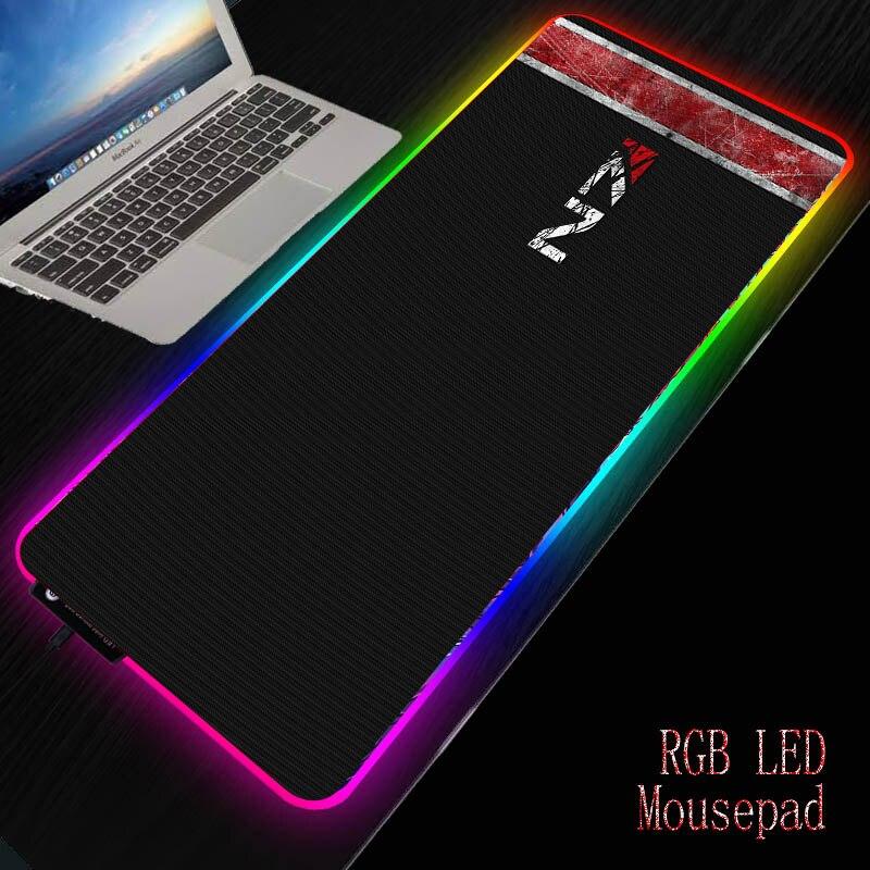 Mairuige كتلة تأثير N7 RGB الألعاب ماوس الوسادة ألعاب الكمبيوتر كبيرة XXL لوحة الخلفية Mause لوحة المفاتيح حصيرة مكتبية