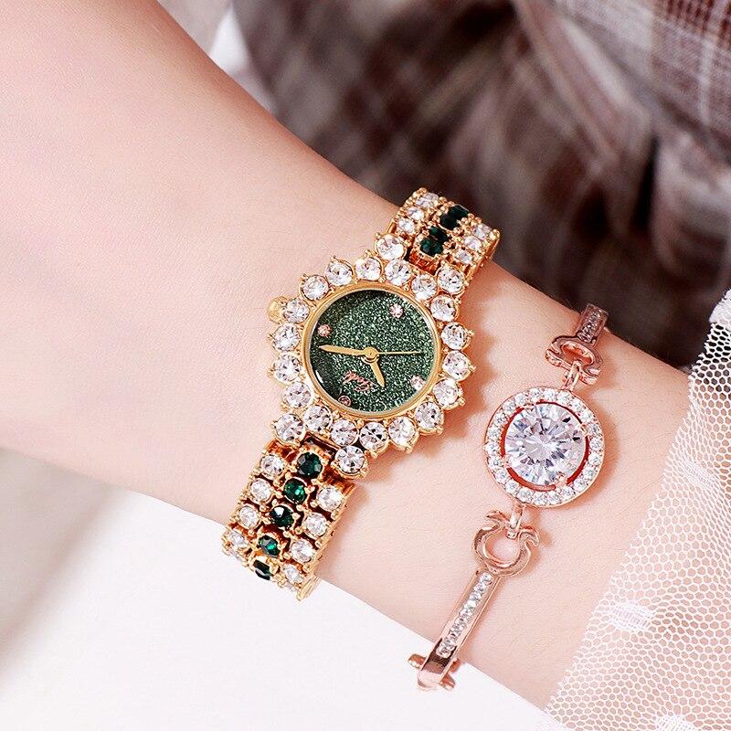 Senhoras à Prova Água de Luxo Relógio de Quartzo Fora em Breve Moda Pequeno Relógio Feminino Relógios Elegantes Dwaterproof Temperamento Vender-para 2021