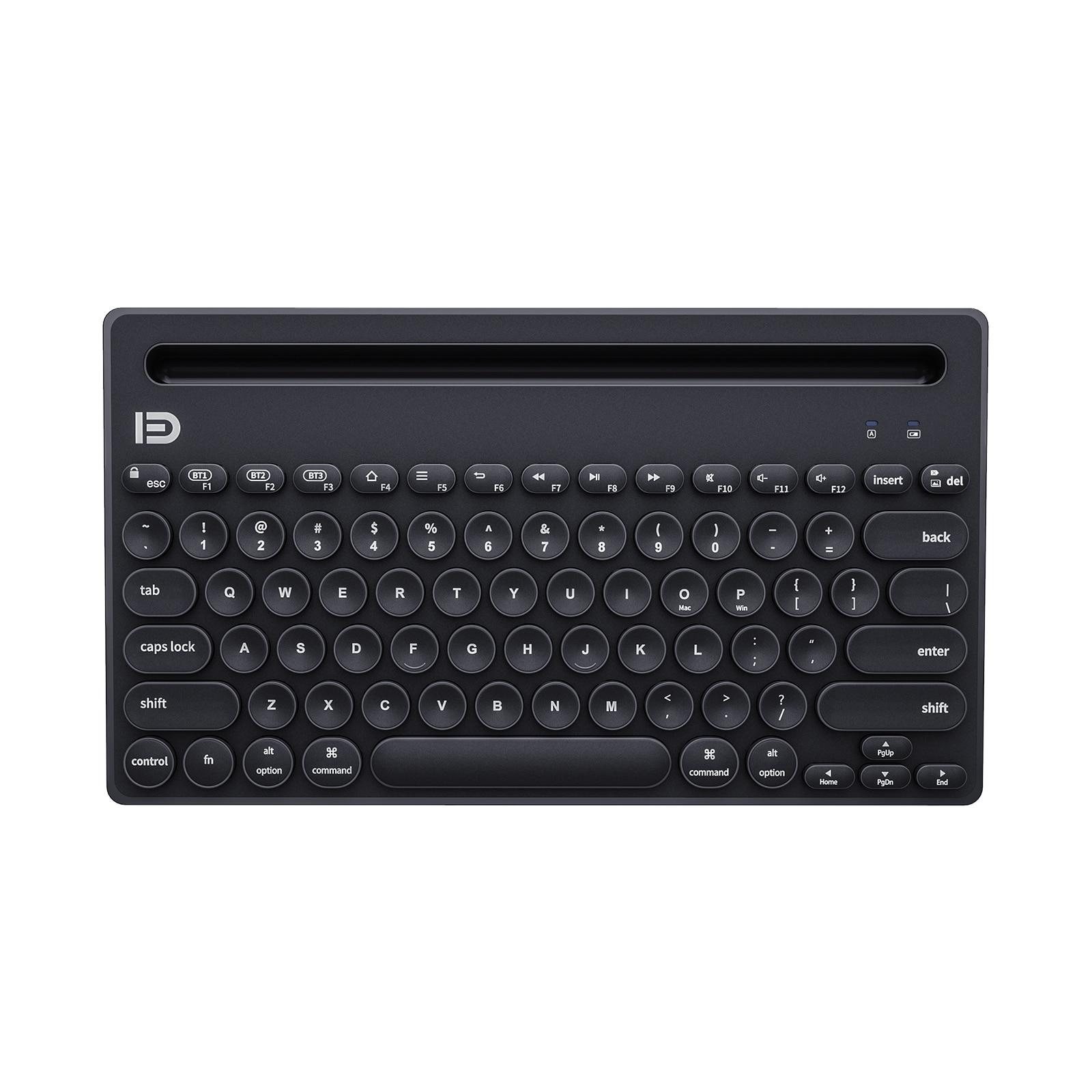 Ik3381m متعدد الأجهزة المحمولة بلوتوث لوحة المفاتيح ، FD آلة كاتبة مفاتيح مستديرة ، متوافق مع الكمبيوتر اللوحي المحمول هواتف محمولة