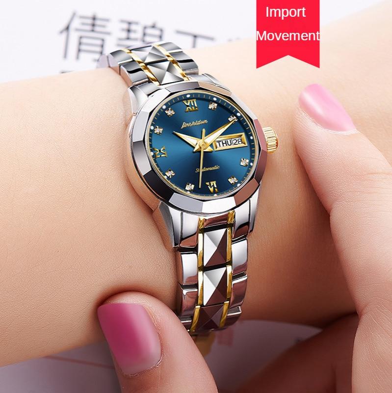 Watch tungsten steel mechanical watch luminous waterproof ladies watch women enlarge