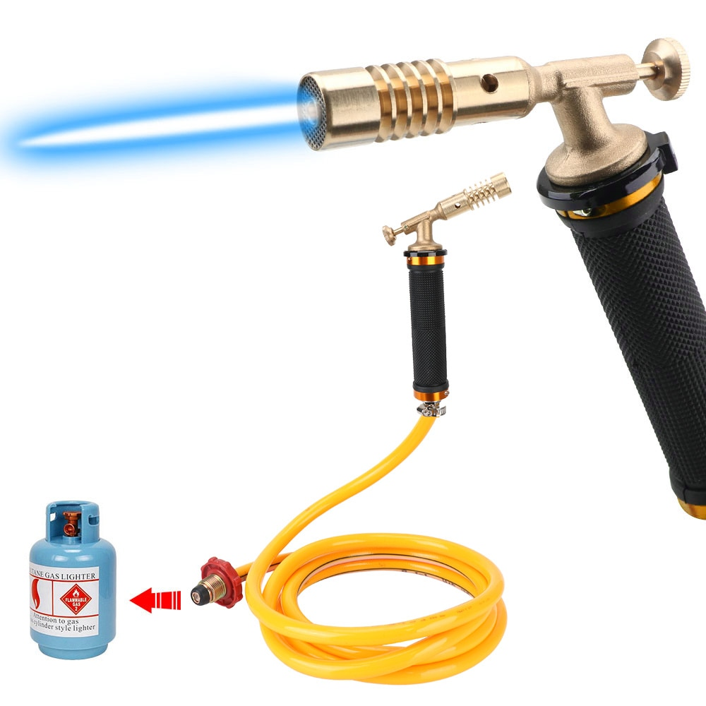 DIYWORK Liquefied Propane Gas for Soldering Weld Cooking Welding Gas Torch Copper Electronic Ignition Welding Gun Welding Tool 350a 500a gas welding gun shunt connecting rod insulation cover bent pipe nozzle gas welding gun accessories welder gun parts
