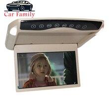 Moniteur de voiture Ultra mince   10.1 pouces, montage sur toit au plafond LCD TFT Down, lecteur MP5 HD 1080P vidéo/USB/SD/FM transmetteur/haut-parleur