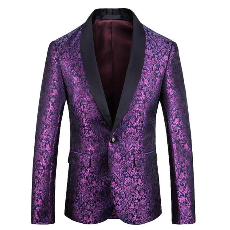 Vestido de traje de hombre chaquetas y vestido americano púrpura primavera otoño...