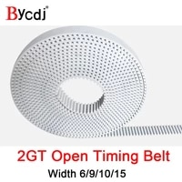 2gt open synchronous belt 2gt 6 width 691015mm polyurethane steel pu s2m timing belt small backlash 3d printer
