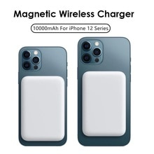 2021 mobile phone back clip 10000mAh magnetic fast wireless charger portable power bank for iphone 1